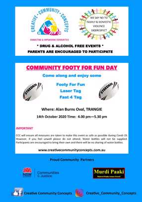 Community Footy For Fun Day