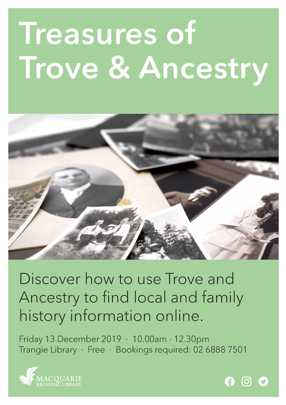 Ancestry and Trove Workshop