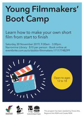 Young Film Makers Bootcamp with Kellie Jennar