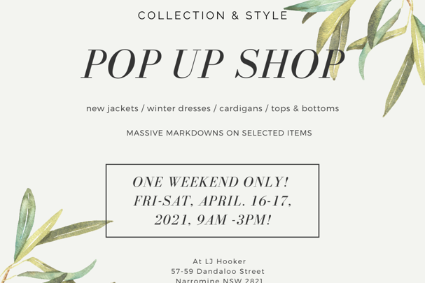 Collection & Style Pop Up Shop